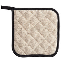 SafeMitt 8 inch x 8 inch Terry Cloth Pot Holder   - 12/Pack