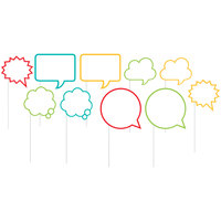 Creative Converting 324557 Speech Bubble Photo Booth Props - 60 Pieces