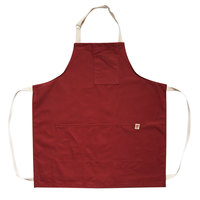 Stock Mfg. Co. RSienna Red Cotton Canvas Bib Apron with 4 Pockets - 32 inchL x 27.5 inchW
