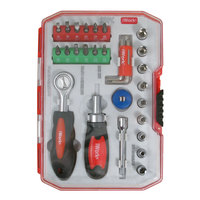 Olympia Tools 76-521-N12 28-Piece Tool Set with Clear Plastic Case