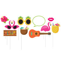 Creative Converting 324552 Luau Photo Booth Props - 60 Pieces