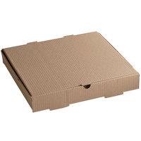 14 inch x 14 inch x 2 1/2 inch Kraft Corrugated Plain Pizza Box / Bakery Box - 50/Case