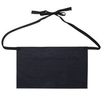 Stock Mfg. Co. Navy Cotton Twill Waist Apron with 3 Pockets - 17 inchL x 23 inchW