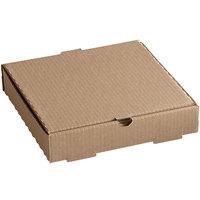 10 inch x 10 inch x 2 inch Kraft Corrugated Plain Pizza / Bakery Box - 50/Case
