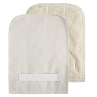 SafeMitt 8 1/2 inch x 11 inch Terry Cloth Pan Grabber / Baker's Pad with Wrist Strap   - 12/Pack
