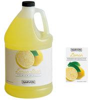 Narvon 1 Gallon Lemon Slushy Syrup - 4/Case