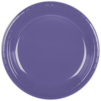 Creative Converting 28115031 10 inch Purple Plastic Plate - 20 / Pack