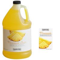 Narvon 1 Gallon Pineapple Slushy Syrup - 4/Case