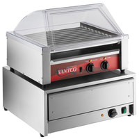 Avantco 30 Hot Dog Roller Grill with Sneeze Guard and 32 Bun Warmer