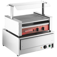 Avantco 30 Hot Dog Roller Grill with Pass-Through Canopy and 32 Bun Warmer