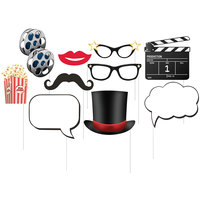 Creative Converting 315203 Hollywood Lights Photo Booth Props - 60 Pieces