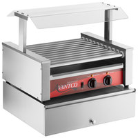 Avantco 30 Hot Dog Roller Grill with Pass-Through Canopy and 100 Bun Cabinet