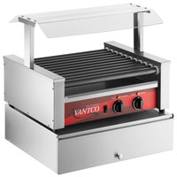 Avantco 30 Hot Dog Non-Stick Roller Grill with Pass-Through Canopy and 100 Bun Cabinet
