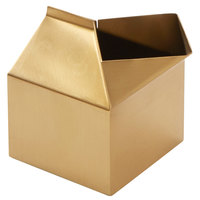 American Metalcraft MCG300 3 oz. Gold Satin Finish Stainless Steel Milk Carton Creamer