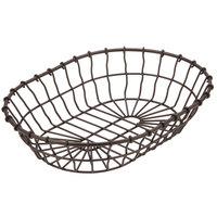 American Metalcraft WBB11 11 inch x 8 inch x 2 1/2 inch Bronze Oval Wire Basket