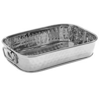 American Metalcraft SHT9 9 1/8 inch x 6 1/8 inch Silver Mirror Finish Hammered Stainless Steel Rectangular Food Serving Tub