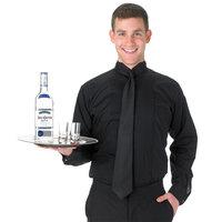 Henry Segal Unisex Customizable Black Tuxedo Shirt with Wing Tip Collar - XL