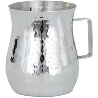 American Metalcraft CHS2 2 oz. Silver Hammered Stainless Steel Bell Creamer