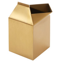 American Metalcraft MCG500 5 oz. Gold Satin Finish Stainless Steel Milk Carton Creamer