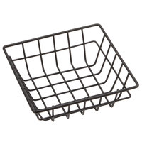 American Metalcraft SQGS6 6 inch Black Square Wire Basket