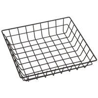 American Metalcraft SQGS10 10 inch Black Square Wire Basket