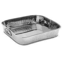 American Metalcraft SHT10 10 1/4 inch x 10 1/4 inch Silver Mirror Finish Hammered Stainless Steel Square Food Serving Tub