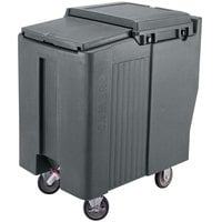 Cambro ICS175T191 SlidingLid Granite Gray Portable Ice Bin - 175 lb. Capacity Tall Model