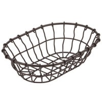 American Metalcraft WBB9 9 inch x 6 inch x 2 1/4 inch Bronze Oval Wire Basket