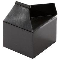 American Metalcraft MCB300 3 oz. Black Satin Finish Stainless Steel Milk Carton Creamer