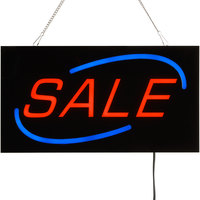 Choice 19 inch x 10 inch LED Solid Rectangular Sale Sign with Two Display Modes
