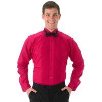 Henry Segal Unisex Customizable Fuchsia Tuxedo Shirt with Wing Tip Collar - S
