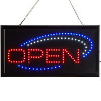 Choice 19 inch x 10 inch LED Rectangular Open Sign with Two Display Modes