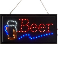 Choice 19 inch x 10 inch LED Rectangular Beer Sign with Two Display Modes