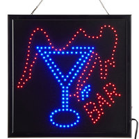 Choice 20 inch x 20 inch LED Square Bar Sign with Two Display Modes