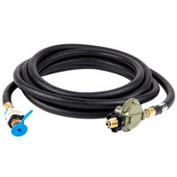 Crown Verity 5131 1/2 inch x 25' Liquid Propane Gas Hose and Regulator Assembly for Single Inlet (SI) Propane Cooking Equipment