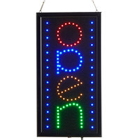 Choice 19 inch x 10 inch Vertical LED Rectangular Multicolor Open Sign with Two Display Modes