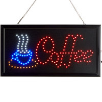 Choice 19 inch x 10 inch LED Rectangular Coffee Sign with Two Display Modes