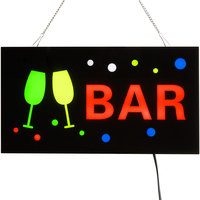 Choice 19 inch x 10 inch LED Solid Rectangular Bar Sign with Two Display Modes