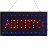 Choice 19 inch x 10 inch LED Rectangular Abierto Sign with Two Display Modes