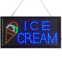 Choice 19 inch x 10 inch LED Rectangular Ice Cream Sign with Two Display Modes