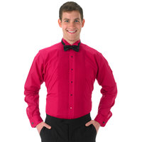Henry Segal Unisex Customizable Fuchsia Tuxedo Shirt with Wing Tip Collar - M