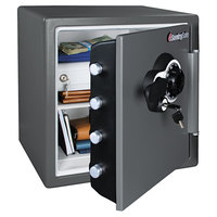 SentrySafe SFW123CSB Gray 1 Hour Fire and Water Safe with Combination Lock - 1.23 Cu. Ft.