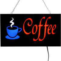 Choice 19 inch x 10 inch LED Solid Rectangular Coffee Sign with Two Display Modes
