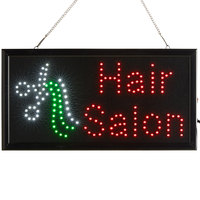 Choice 19 inch x 10 inch LED Rectangular Hair Salon Sign with Two Display Modes