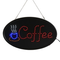 Choice 23 inch x 13 inch LED Oval Coffee Sign with Two Display Modes