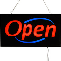 Choice 19 inch x 10 inch LED Solid Rectangular Open Sign with Two Display Modes