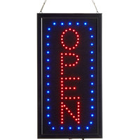 Choice 19 inch x 10 inch Vertical LED Rectangular Open Sign with Two Display Modes