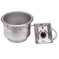 APW Wyott SM-50-4D UL 4 Qt. Round Drop In Soup Well with Drain and UL Electrical Kit