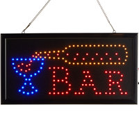 Choice 19 inch x 10 inch LED Rectangular Multicolor Bar Sign with Two Display Modes
