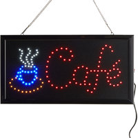 Choice 19 inch x 10 inch LED Rectangular Cafe Sign with Two Display Modes